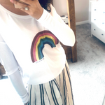Flowy Rainbow Long Sleeve Tee