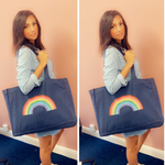 Reclaimed Cotton Rainbow Beach Bag