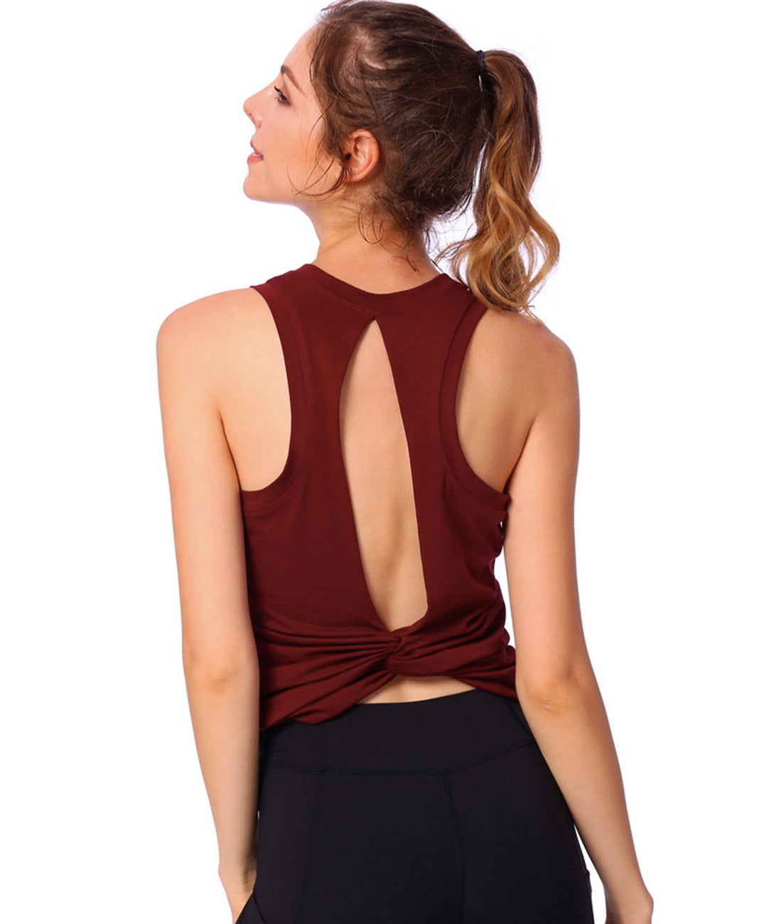 Bella Yoga Open-Back Tank Top
