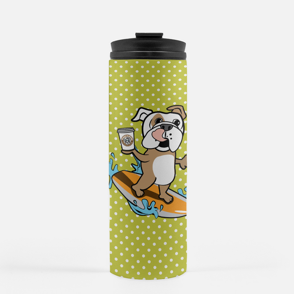 Summer Edition Surfing Bulldog Thermal Travel Tumbler