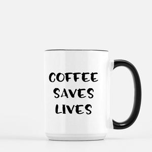 Coffee Saves Lives Mug Frenchie Edition