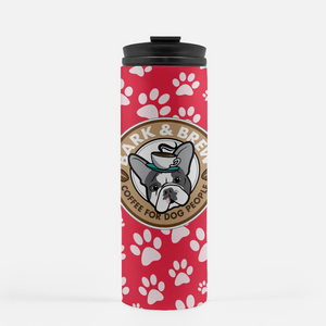 Red & White Paws / B + B Thermal Travel Tumbler