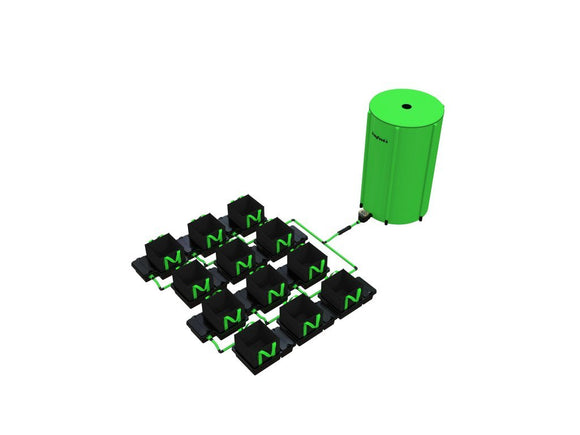 10 Pot 10LTR/16LTR/22LTR/30LTR EasyFeed™ System - led grow lights KingOfLeds