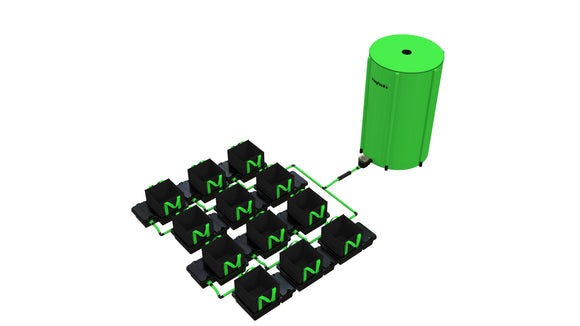 12 Pot 10LTR/16LTR/22LTR/30LTR EasyFeed™ System - led grow lights KingOfLeds