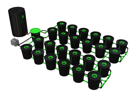 XL 24 POT RDWC 30ltr - led grow lights KingOfLeds