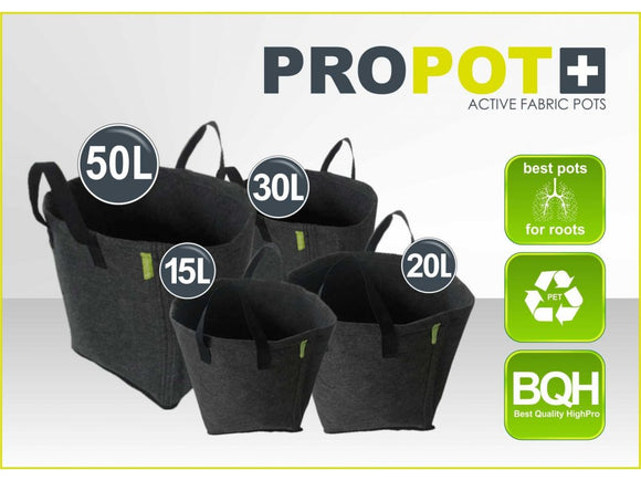 TEXTILE FLOWERPOT PROPOT 15L, 20L, 30L, 50L - led grow lights KingOfLeds