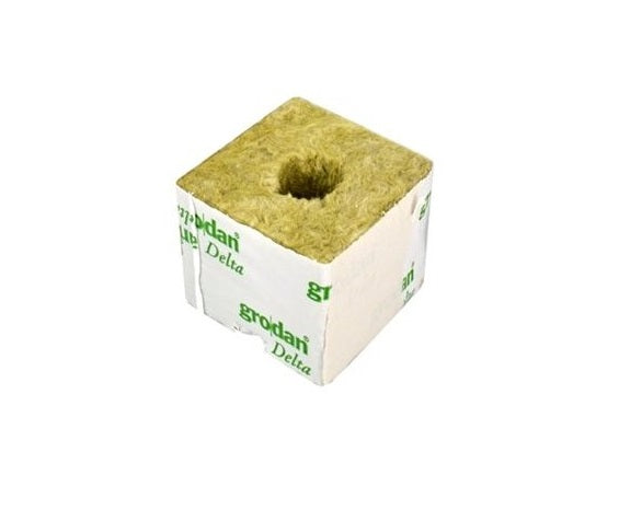 GRODAN Growing Cube Large, 100x100x65mm, with a small hole - led grow lights KingOfLeds