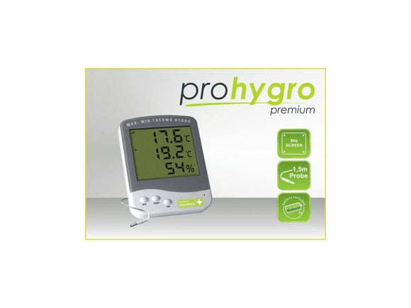 Digital Thermo-Hygro meter PREMIUM with probe - led grow lights KingOfLeds