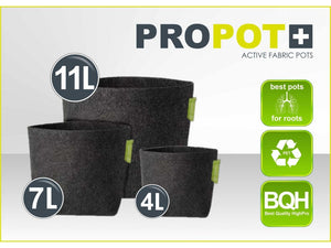 Textile flowerpot PROPOT 4L, 7L, 11L - led grow lights KingOfLeds