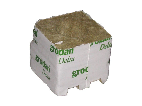 GRODAN crop cube small, 75x75x65mm, without hole - led grow lights KingOfLeds