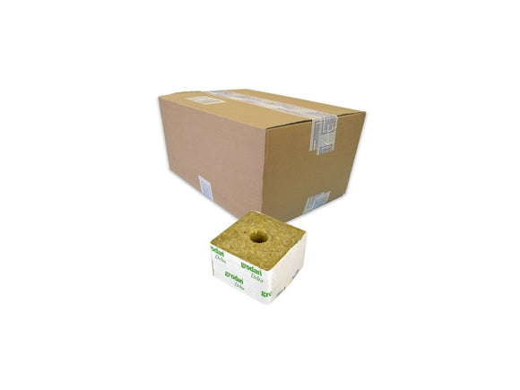 GRODAN big cube, 100x100x65mm, with a small hole, box 216pcs