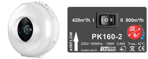 Prima Klima PK160-2 Two-speed - led grow lights KingOfLeds