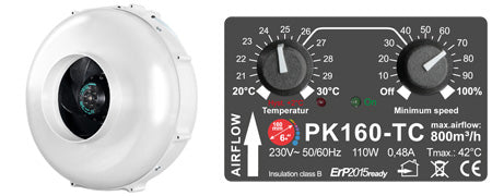 Prima Klima PK160-TC Temperature Controlled - led grow lights KingOfLeds