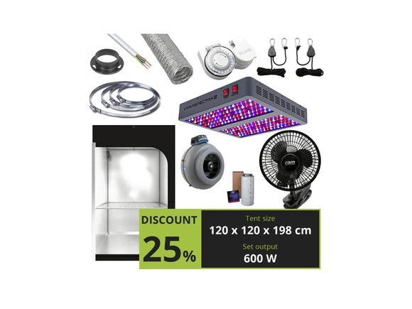 BASIC 600W (120X120X198 CM) + Viparspectra V900 - led grow lights KingOfLeds
