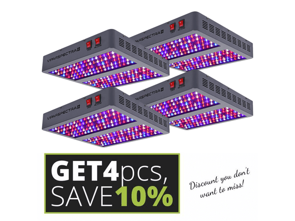 Viparspectra V900 set 4 pcs - led grow lights KingOfLeds