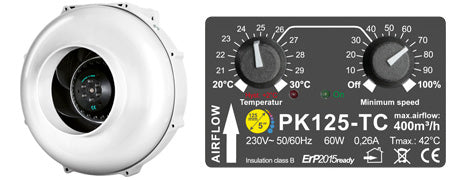 Prima Klima PK125-TC Temperature Controlled - KingOfLeds