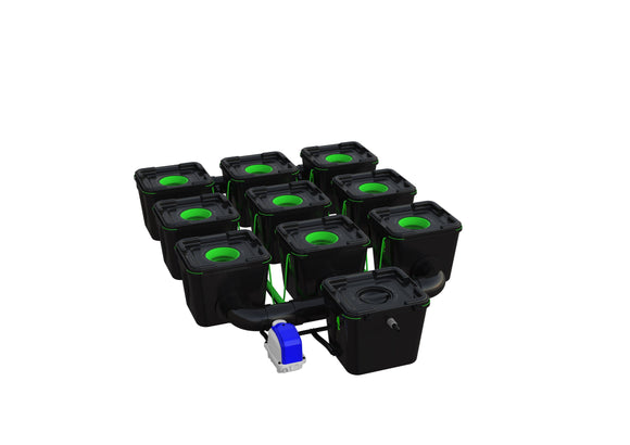 9 Pot RDWC Pro 50 cm, 75 cm 34LTR - led grow lights KingOfLeds