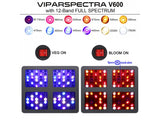 Viparspectra V600 set 4 pcs - led grow lights KingOfLeds