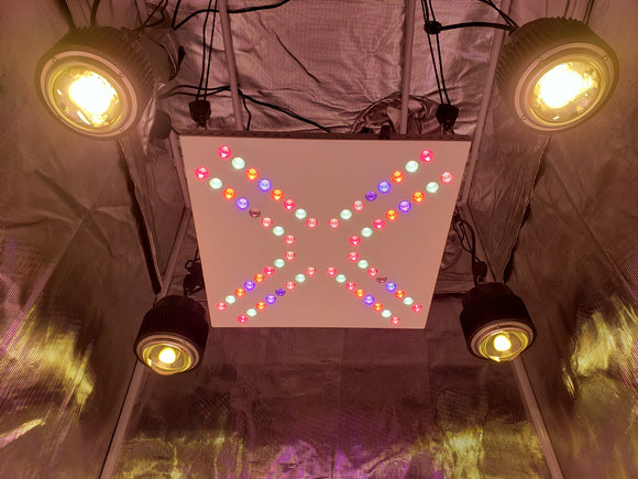 X4 COB Array 216w - 336w (UV/IR) 3500k COBs - led grow lights KingOfLeds