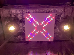 XL2 COB Array 200w - 320w (UV/IR) 3500k COBs - led grow lights KingOfLeds