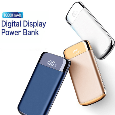 Chargers & Docks Blue Sleek 10,000mah Power Bank w/LED display celltechmobilerepairs