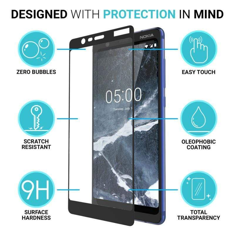 Nokia 5.1  Tempered Glass Full Protection celltechmobilerepairs