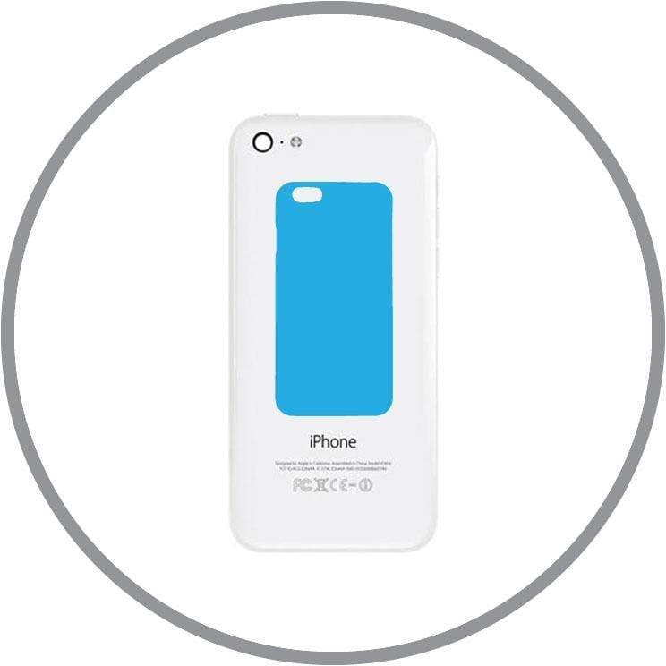 White / In-store Repair iPhone 5C Back Casing Replacement celltechmobilerepairs