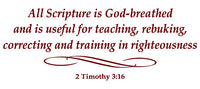 2 TIMOTHY 3:16 RELIGIOUS WALL DECAL IN MAROON