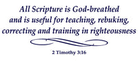 2 TIMOTHY 3:16 RELIGIOUS WALL DECAL IN NAVY BLUE