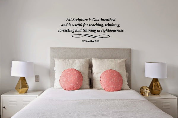2 TIMOTHY 3:16 RELIGIOUS WALL DECAL