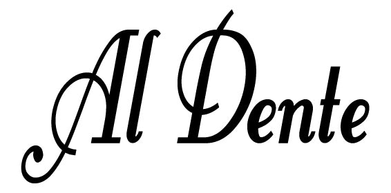 AL DENTE ITALIAN WALL WORD DECAL IN BLACK