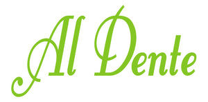AL DENTE ITALIAN WALL WORD DECAL IN LIME GREEN
