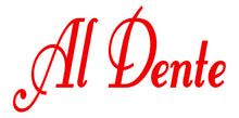 Load image into Gallery viewer, AL DENTE ITALIAN WALL WORD DECAL IN RED