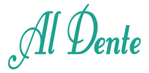 AL DENTE ITALIAN WALL WORD DECAL IN TURQUOISE