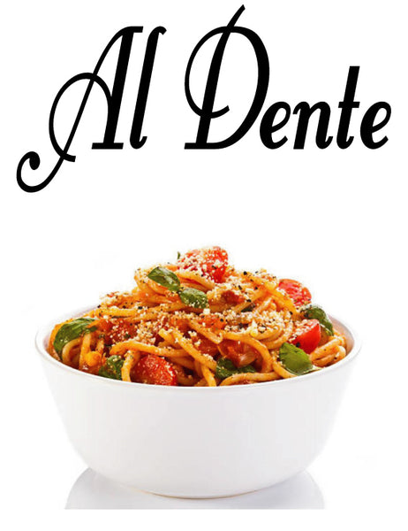 AL DENTE ITALIAN WALL WORD DECAL