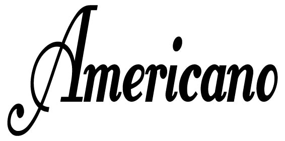 AMERICANO COFFEE WORD WALL DECAL BLACK