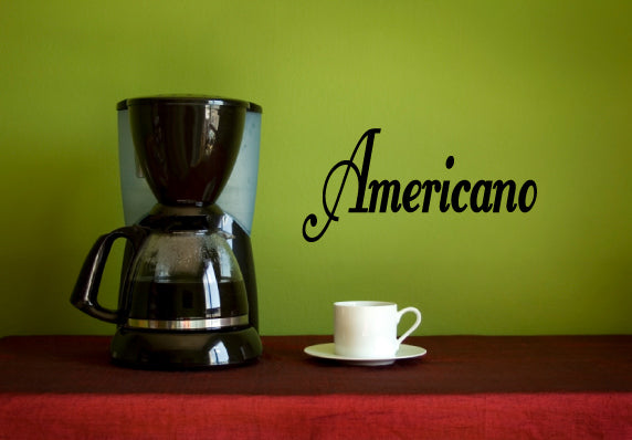 AMERICANO COFFEE WORD WALL DECAL