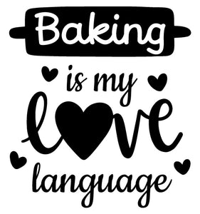 Baking wall sticker