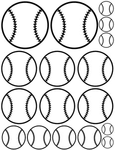 Baseball wall stickers