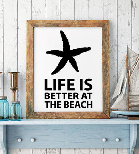 Beach wall decal from whimsidecals.com