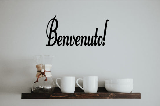 BENVENUTO ITALIAN WORD WALL DECAL