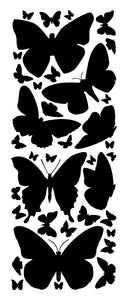 BLACK BUTTERFLY WALL DECALS