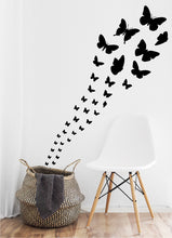Load image into Gallery viewer, BLACK BUTTERFLY WALL STICKERS