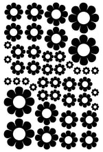 Load image into Gallery viewer, BLACK DAISY STICKERS