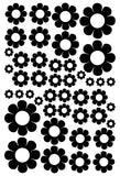 BLACK DAISY STICKERS