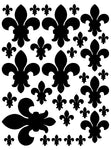 BLACK FLEUR DE LIS WALL DECAL