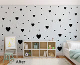 BLACK HEART WALL STICKERS