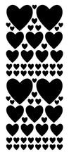 Load image into Gallery viewer, BLACK HEART STICKERS