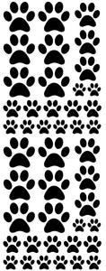 BLACK PAW PRINT DECALS