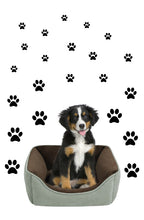 Load image into Gallery viewer, BLACK PAW PRINT STICKERS